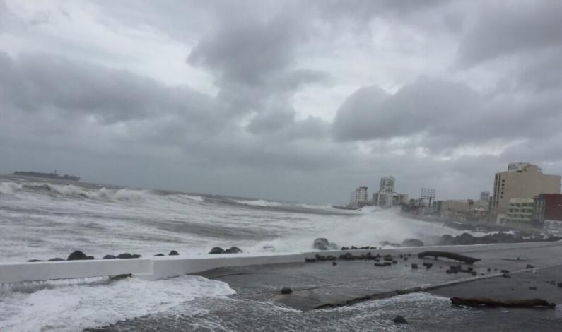 Evento de norte de corta duración para Veracruz con rachas de 70 km/h
