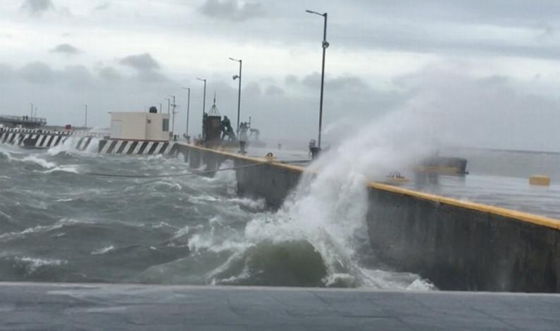 Emiten Alerta Gris por Frente Frío, temporal lluvioso y Norte en Veracruz