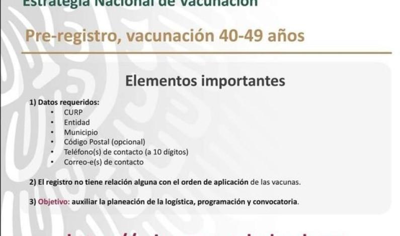 ¿Tienes entre 40 a 49 años? Ya puedes registrarte para la vacunación anticovid
