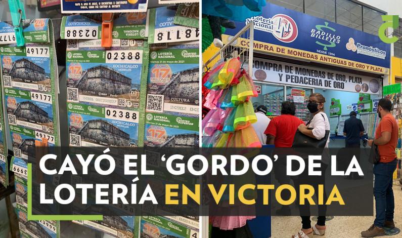 CAYÓ EL 'GORDO' DE LA LOTERÍA EN VICTORIA