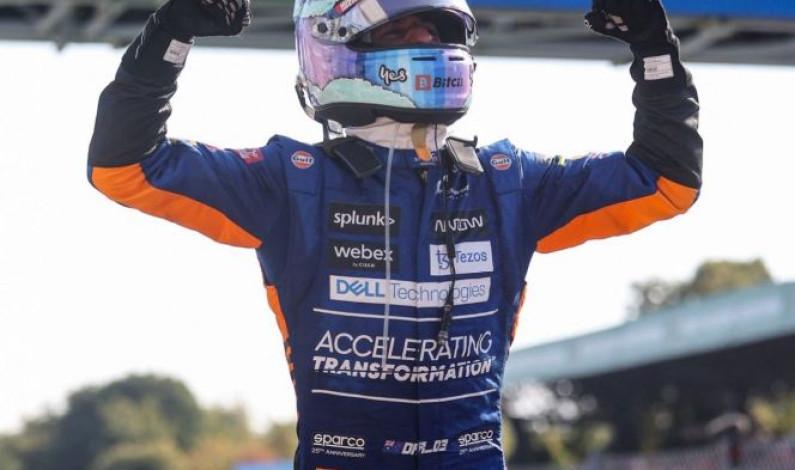 Ricciardo conquista el GP de Italia; error aleja a 'Checo' del podio